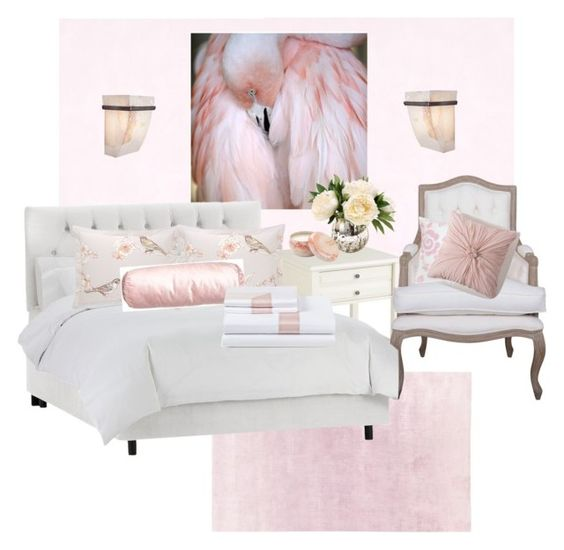 """""""oh so feminine"""" by wendycecille ❤ liked on Polyvore featuring interior, interiors, interior design, home, home decor, interior decorating, Pier 1 Imports, Dasch, DwellStudio and Dena Home"""