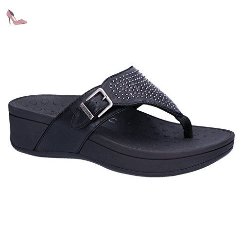 Vionic Womens Grace Jura Black Zebra Leather Sandals 40.5 EU voZDJeW