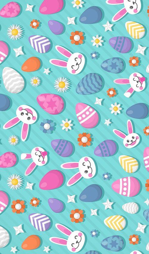 NEW Elegant Easter Rabbit Bunny Border Pink Fabric 100/% Cotton Sold By 1//2 Yard