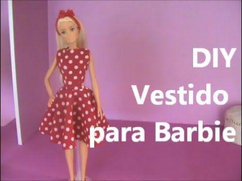 Vestido Rodado Para Barbie Diy Youtube Vestido Barbie Roupas Para Bonecas Barbie Roupas Para Barbie