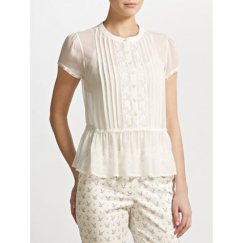Somerset By Alice Temperley Cream Lace Blouse 70