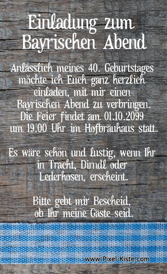 Gluckwunsche zum 40 geburtstag auf bayrisch
