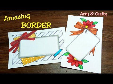 Border Design On Paper Easy Border Design For Project Front