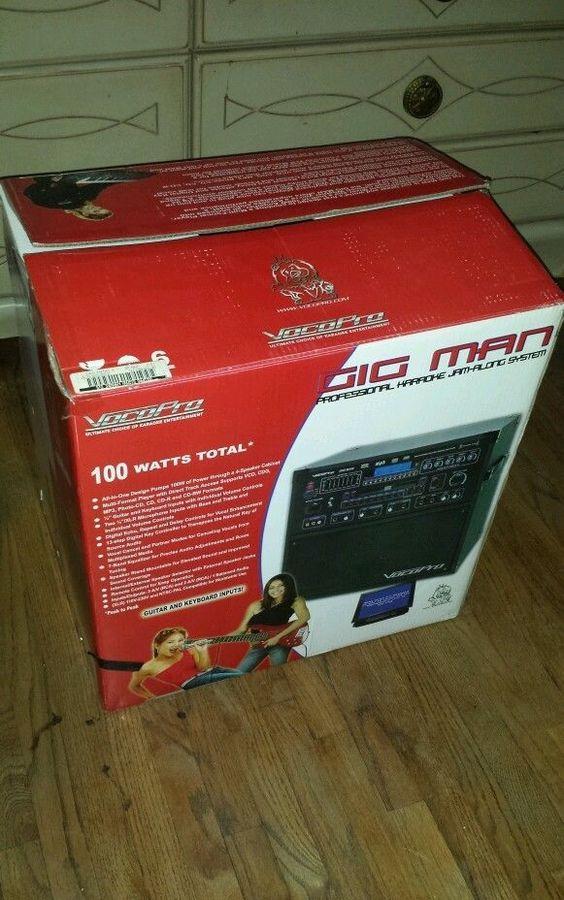 Vocopro GIGMAN CD-G 100 Watt Karaoke Machine System w/2 Mics + Mixer GIG-MAN #VocoPro