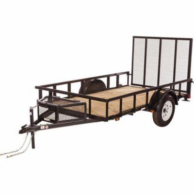 Carry-On Trailer Wood Floor Utility Trailer, 5-1/2 ft. x 10 ft., 2,990 GVWR