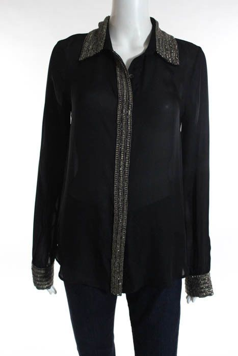 Haute Hippie Black Silk Long Sleeve Beaded Button Down Shirt Size S BN745 https://t.co/g7Yl7VtZwm https://t.co/qxBzRdel6H http://twitter.com/Fuokdi_Leenso/status/772709156797181953