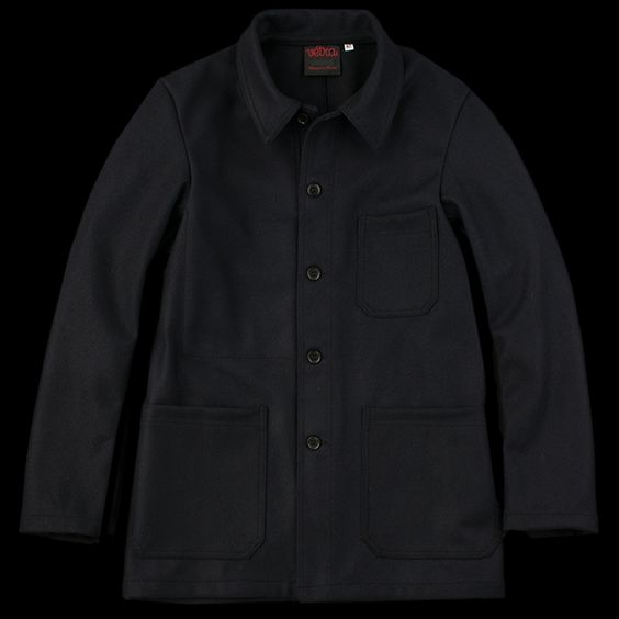 UNIONMADE - Vetra - Unlined Wool Melton Work Jacket in Marine