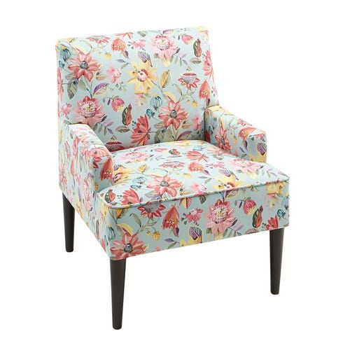 Lily Multi Floral Accent Chair In 2020 Floral Accent Chair