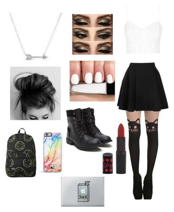 """""""Untitled #71"""" by abbeyxlovesx5sos ❤ liked on Polyvore featuring Avelon, Topshop, Rimmel, Adina Reyter and Forever 21"""