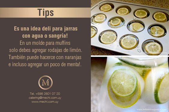 Cubos de hielo con rodajas de limón!!