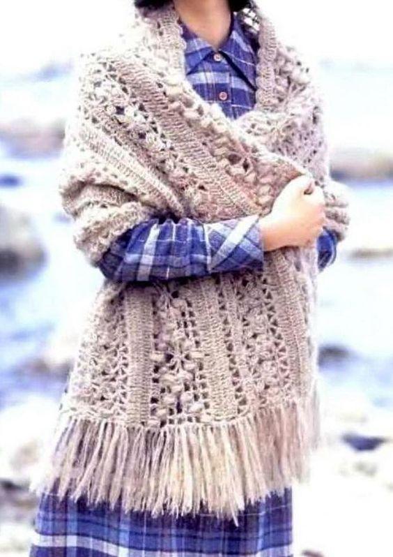 Crochet Shawls: Shawl - Crochet Shawl Wrap For Winter