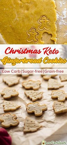 Christmas Keto Gingerbread Cookies – Low Carb, Sugar-free & Grain-free