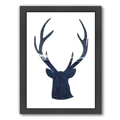 Americanflat Deer 1 by Ikonolexi Framed Graphic Art Size: