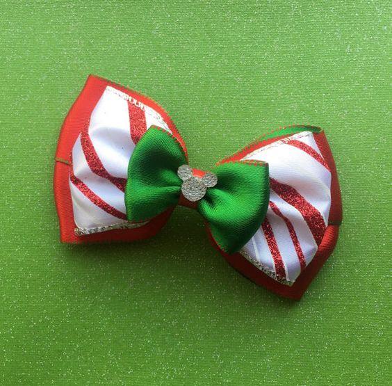 Disney Christmas Bow Free Shipping By Paisleyzbowz On Etsy