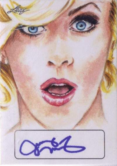 2016 Leaf Pop Century Sketch Signatures Jenny McCarthy