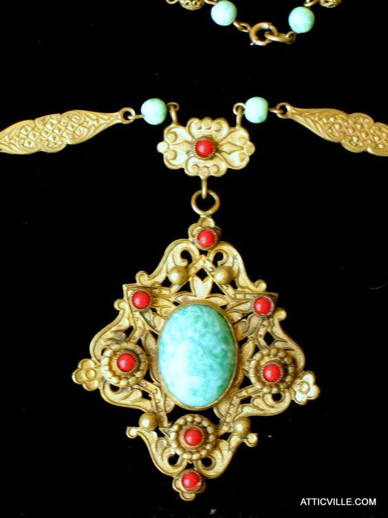 From our jewelry box... at The Attic Vintage Clothing.