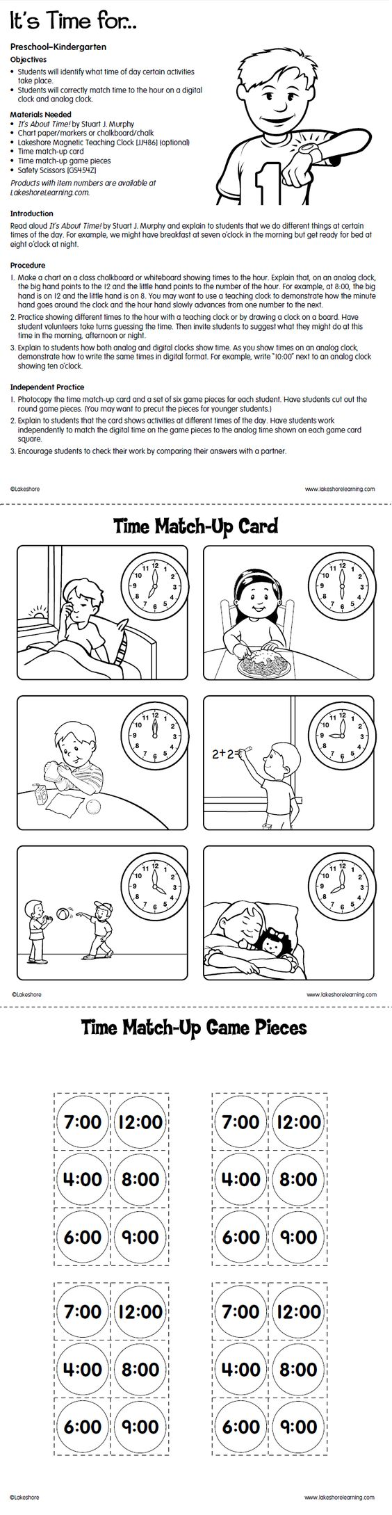 free printable telling time and teaching on pinterest