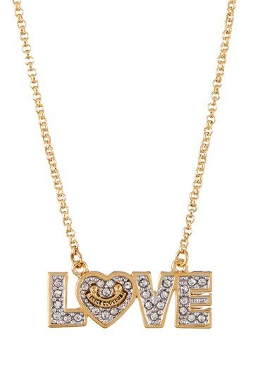 Juicy Couture Pave Love Wish Necklace by Non Specific on @HauteLook