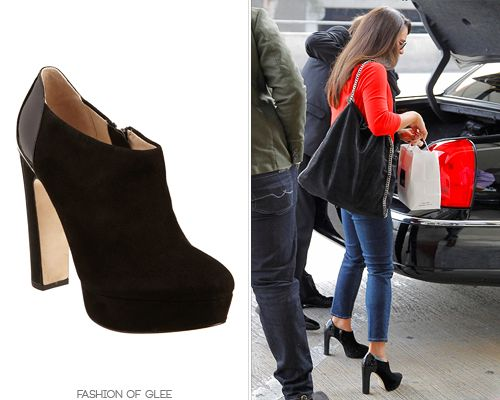 Lea Michele arrives at LAX, Los Angeles, March 5, 2013. Barneys New York Co-Op Haiti Boots - $139.00 (60% off!)  Worn with: Chanel sunglasses, Stella McCartney bag  Also worn in: Los Angeles, February 5, 2013 with Ray-Ban sunglasses, Dana Rebecca Designs necklace, Givenchy bag  The Look, Los Angeles