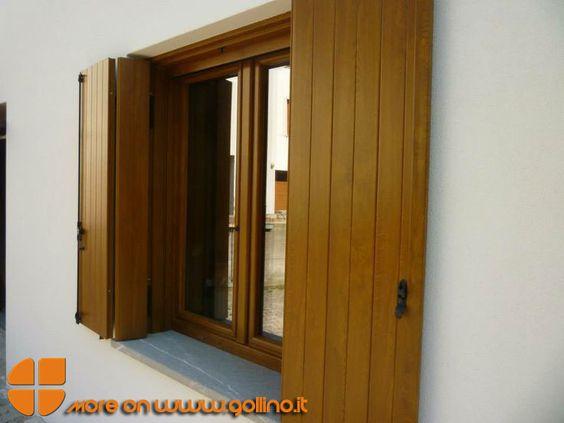Serramenti e Scuretti in PVC a effetto Legno. La qualità della finitura legno rende gli infissi ...