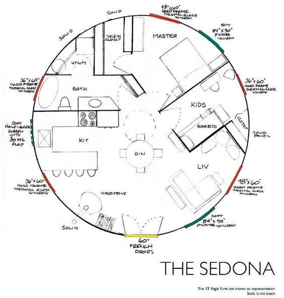 Yurt Floor Plan - Sedona: