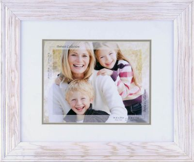 Whitewashed photo frame