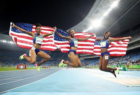 Vor Freude in die Luft gegangen: Bei den olympischen Spielen in Rio…