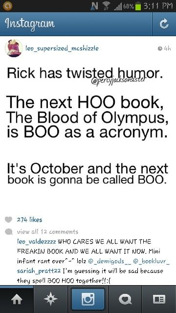 And that twisted sense of humor is going to get him murdered one day (most likely by fangirls)