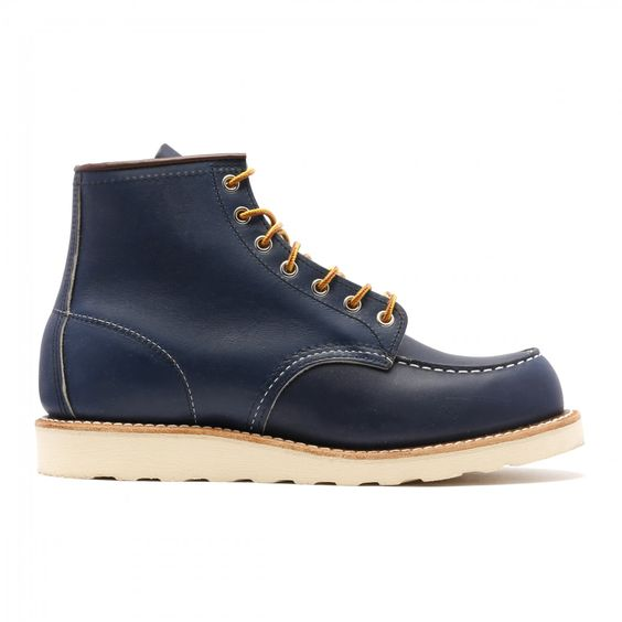 Red Wing 08882 Indigo Blue Leather Classic Moc Chukka