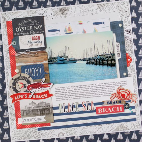 Carta+Bella+-+Yacht+Club+layout - Carta Bella Paper - Yacht Club Collection: