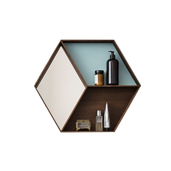 Make a bathroom statement with this handsome wall-mounted storage shelf with mirror | Buy now at the TRNK shop | #TRNK | trnk-nyc.com