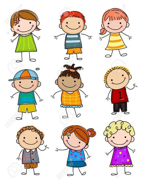 Sketch Kids Recherche Google Kids Stock Cartoon Kids Stick Figure Drawing