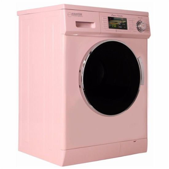 Equator 1 6 Cu Ft 7 Cycle Washer And Dryer Combo Pink Angle Zoom Electric Dryers Cool Things To Buy Washer