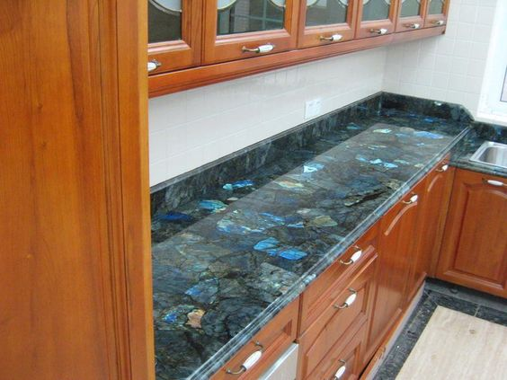 Labradorite Is A Luxury Option For Kitchen Countertops Like All Other Natural Stones It Is