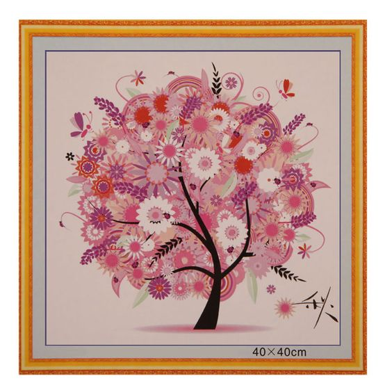 155W*155H Grids DIY Colorful Four Seasons Tree Counted Cross Stitch Kit Embroidery Spring Summer Autumn Winter Free Shipping