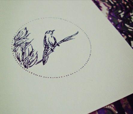 Pássaro #solarar #bird #illustration por Ana Câmara