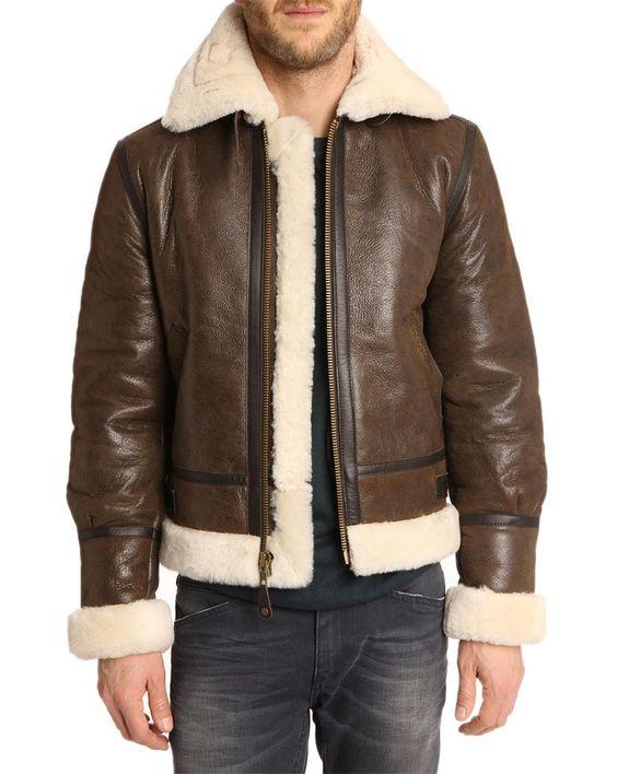 Bombardier Marron en peau lainée Schott NYC | schott jackets