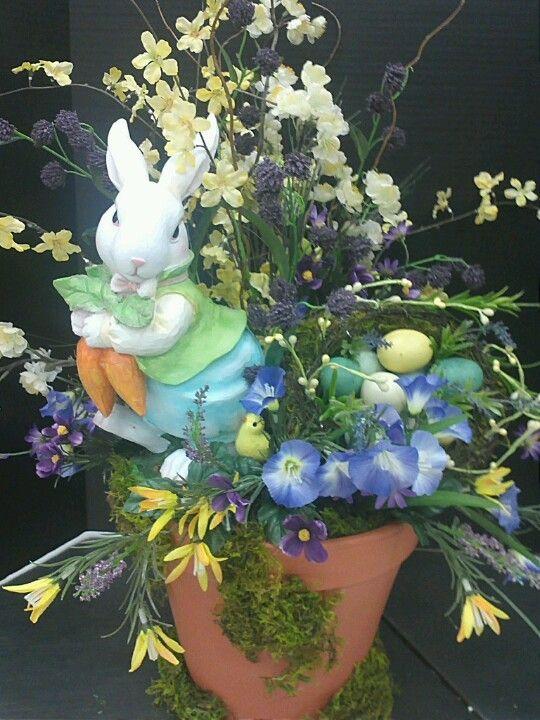Easter in a terra cotta pot