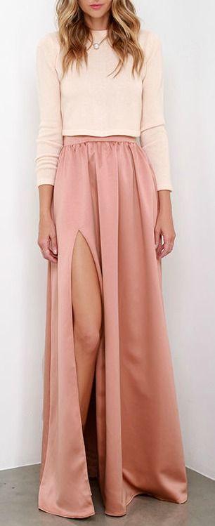 'Twas a Dream Blush Maxi Skirt!