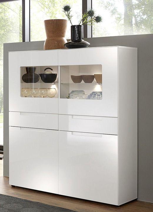 Highboards Highboard Mit Led Beleuchtung Moderne Mobel Bader Lockable Cabinets Home Interior Design Storage Spaces