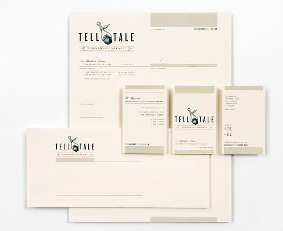 Tell Tale Preserve Co. stationery by CDA