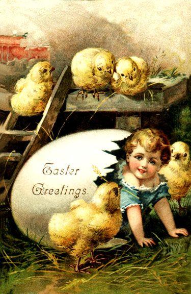 vintage post eipaaskaart ,.............lb: