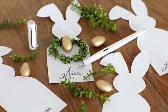 DIY: Easter Placecards