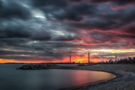 The Beaches overlooking Toronto Skyline