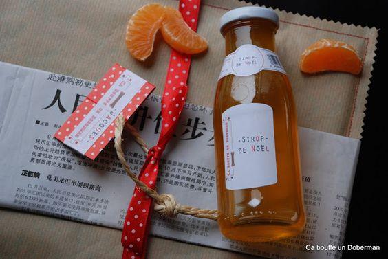 Sirop de Noël à la Mandarine - 10 mandarines et leurs zestes 500 g de sucre en poudre 125 ml d'eau 1 bâton de cannelle