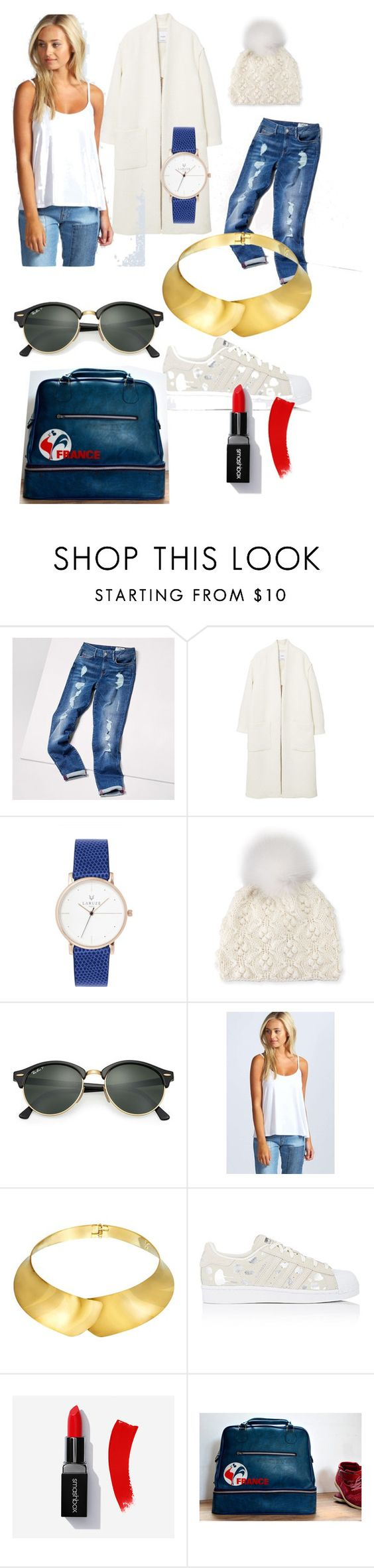 """Sans titre #1"" by legrenierdalphonse ❤ liked on Polyvore featuring Tommy Hilfiger, MANGO, Il Borgo, Ray-Ban, Boohoo, Alexa Starr and adidas"