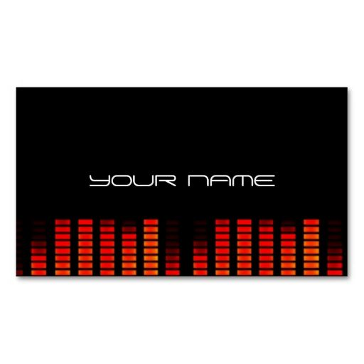 Unique DJ Business Card. Make your own business card with this great design. All you need is to add your info to this template. Click the image to try it out!
