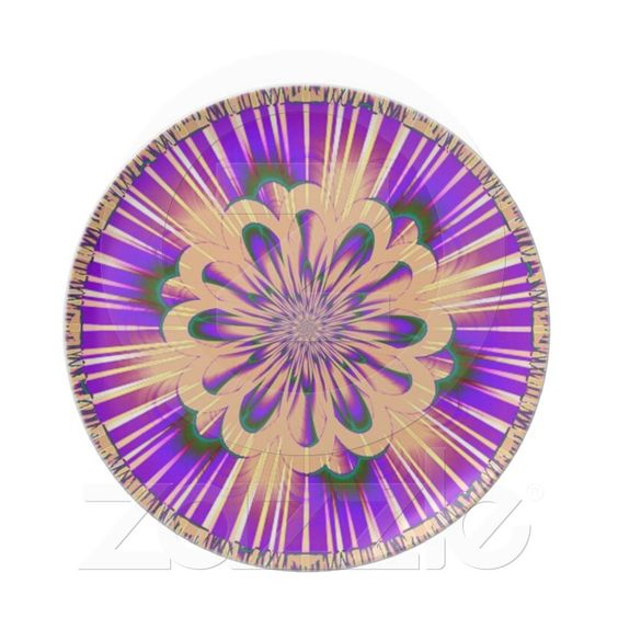 Peach Purple Stripe Plate