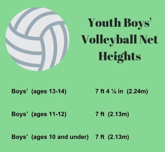 Youth Boys Volleyball Net Heights Check Out More At Volleyball Tips Com Everything From Volleyball Nets To Vo Volleyball Net Volleyball Net Height Volleyball