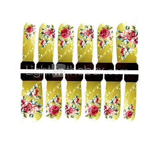 12st Rosenmuster Wasserzeichen Nail Art Sticker c4-011 2016 - €2.49